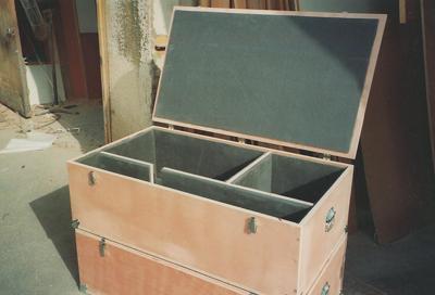 קופסה מעץ להובלת מוצרים