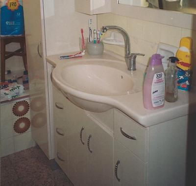 ארון אמבטיה אצל לקוח